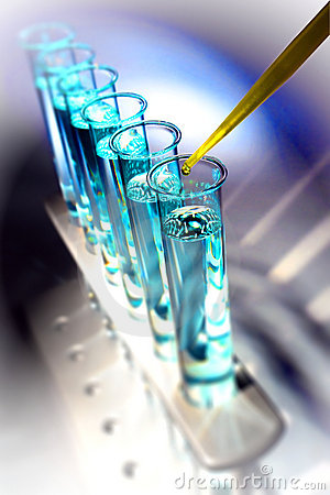 Free Laboratory Test Tubes In Science Research Lab Royalty Free Stock Photos - 20022888