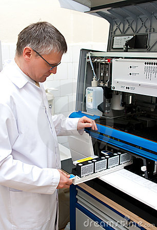 Laboratory worker
