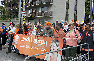 Labour Day March at the CNE Editorial Stock Image