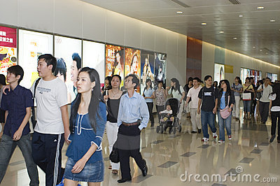 Labour Holidays in China, shopping crowd Editorial Image