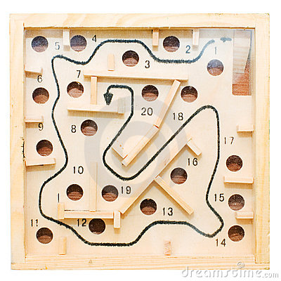Labyrinth with holes
