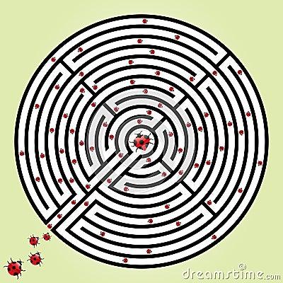 Labyrinth with ladybugs