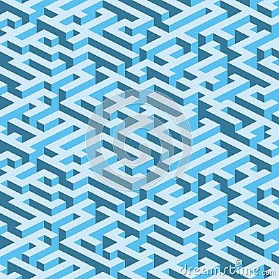 Labyrinth (seamless vector wallpaper)