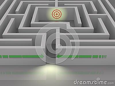 Labyrinth to destination