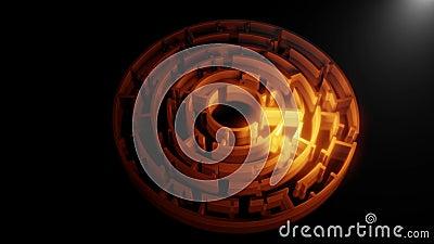 labyrinthe de la circulaire 3D vid?o illustration de vecteur