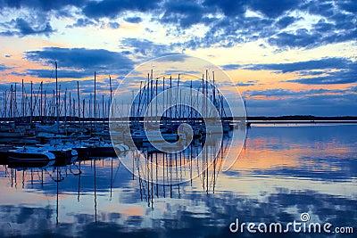 Lac de Orient at Sunset