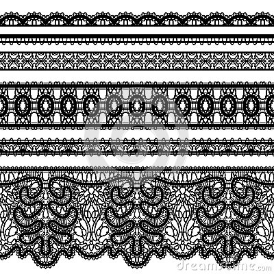 Free Lace Borders On White Royalty Free Stock Images - 80948369
