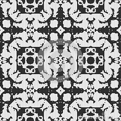 Black And White Curtain Lace Texture Stock Illustration - Image ...