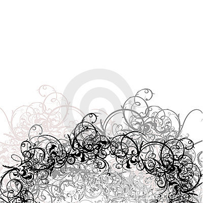 Lace Curves Black And White Background