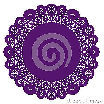 Free Lace Doily Placemat, Purple Stock Photo - 6346770