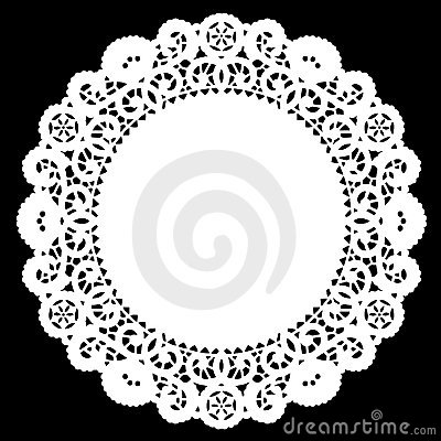 Free Lace Doily Placemat, White Royalty Free Stock Image - 6346736