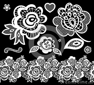 Free Lace Embroidery Design Elements Royalty Free Stock Photography - 33170327