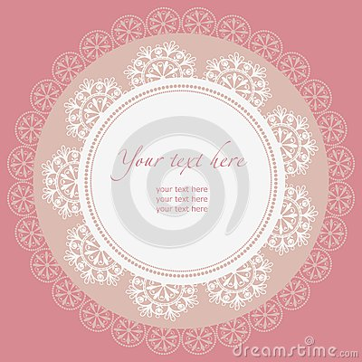 Free Lace Frame. Napkin. Royalty Free Stock Photography - 30192587