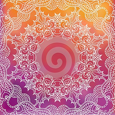 Lace Pattern Background With Indian Ornament Royalty Free Stock Photos