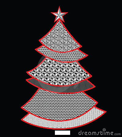 Free Lace Pattern Christmas Tree Stock Photography - 17005302
