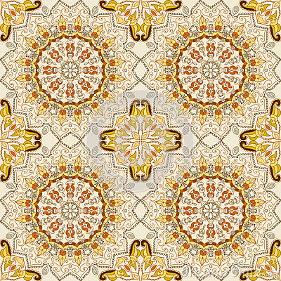 Lace seamless ethnic pattern