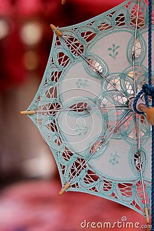 Lace souvenir umbrella