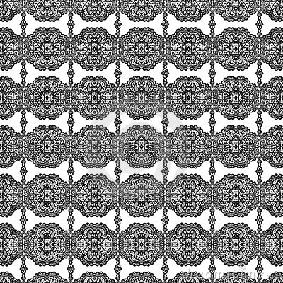 Lace style floral repeat seamless pattern