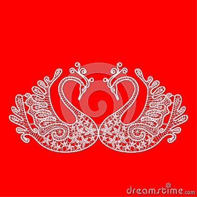 Lace swan