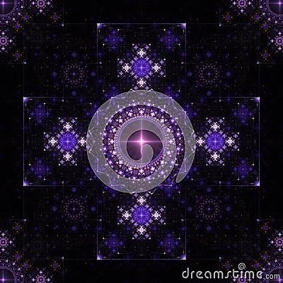 Lace symmetric fractal