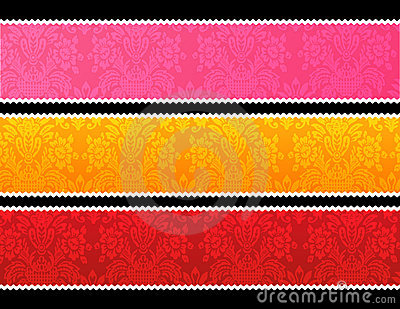 Lace trim banners