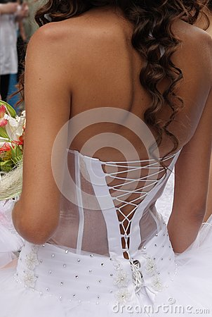 Lace up corset