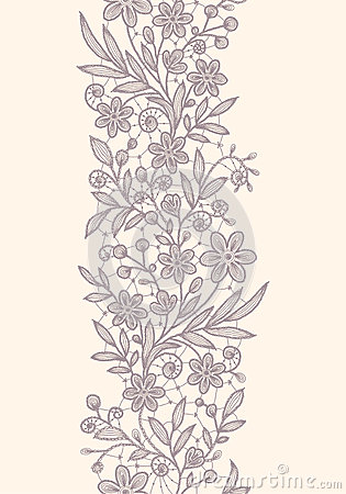 Free Lace Vertical Seamless Pattern. Stock Photos - 54065893