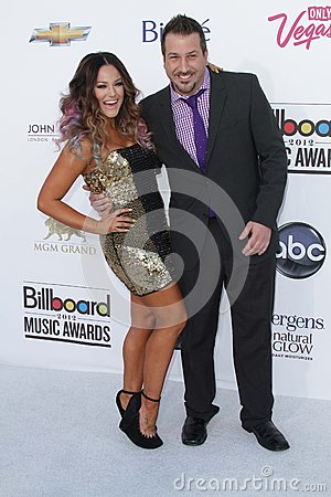 Lacey Schwimmer and Joey Fatone at the 2012 Billboard Music Awards Arrivals, MGM Grand, Las Vegas, NV 05-20-12 Editorial Stock Photo