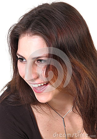 Lachend jong meisje
