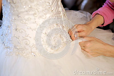 Lacing Wedding Dress