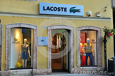 Lacoste store in Italy Editorial Photo
