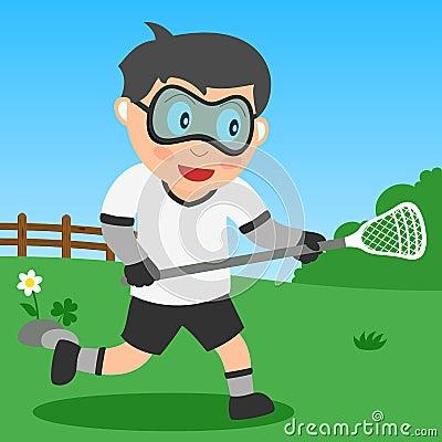 Lacrosse Boy in the Park