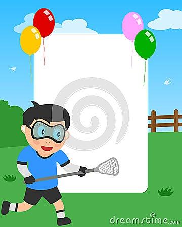 Lacrosse Boy Photo Frame