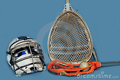 Lacrosse goalie equipment and momens stick