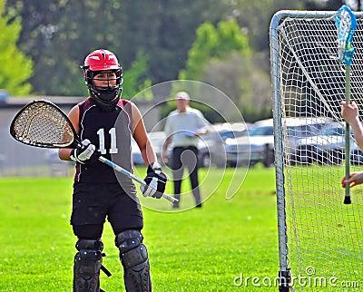 Lacrosse goalkeeper