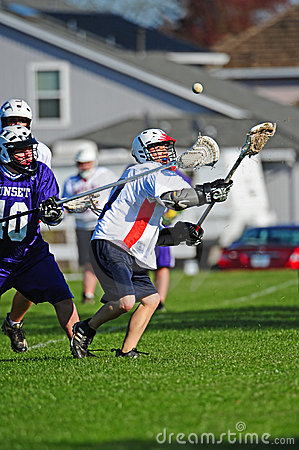 Lacrosse Over the shoulder nab Editorial Photo