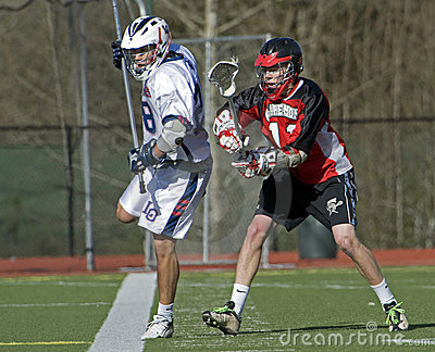 Lacrosse Running the line Editorial Image