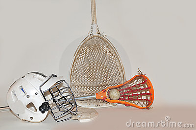 Lacrosse stick and goalie equipment