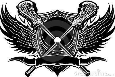 Lacrosse Sticks Ornate Graphic Template