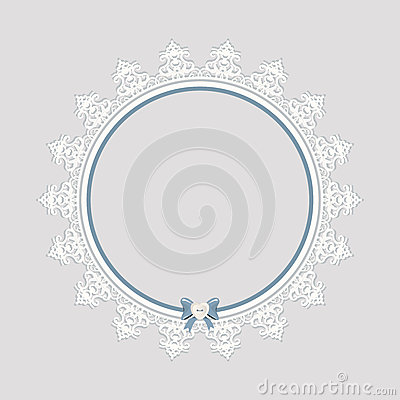 Lacy doily frame. Vector Illustration