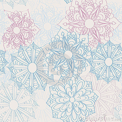 Lacy flower pattern