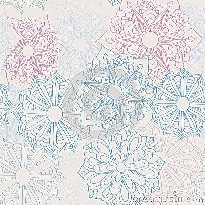 Lacy flower pattern