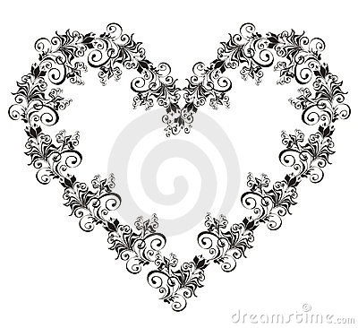 Lacy heart. Vector illustration