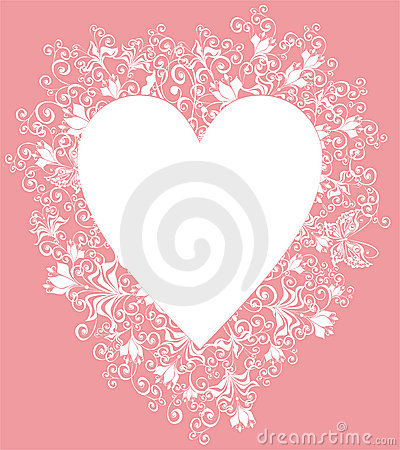 Lacy heart. Vector illustration