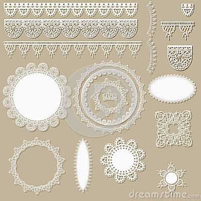 Free Lacy Scrapbook Design Elements Stock Image - 24680661