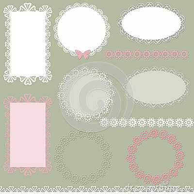 Lacy scrapbook napkin and frame design