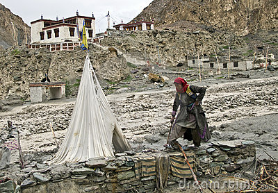 Ladakh flood Editorial Photo