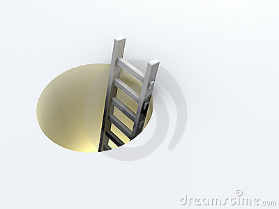 Ladder in hole
