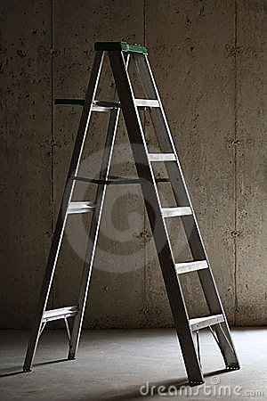 Free Ladder In Basement Stock Image - 4443391