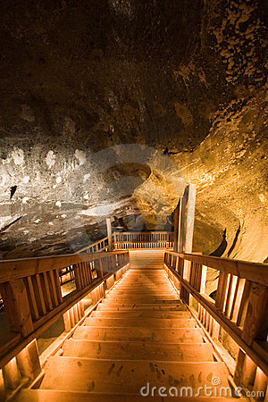 Free Ladder In Salt Mine Royalty Free Stock Photography - 7678237